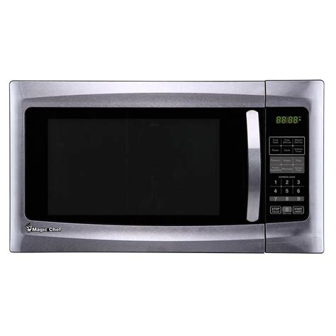 stainless steel countertop microwave magic chef 1 6 cu ft countertop microwave in stainless