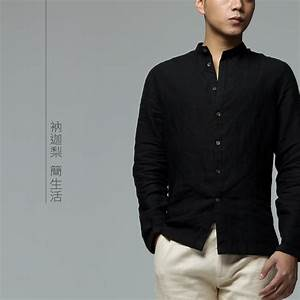 Linen Shirt Black | Artee Shirt