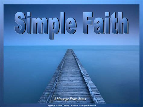 simple faith