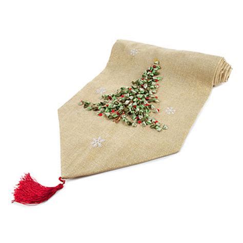 christmas tree embroidered table runners big lots