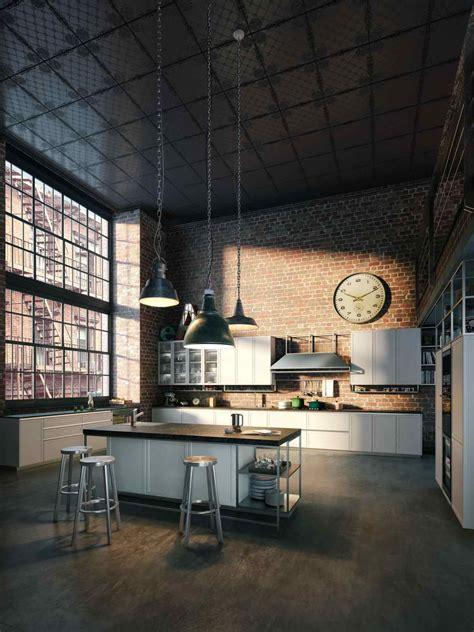 kitchen loft design industrial warehouse loft apartment kitchen home design 2246