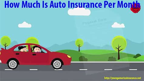How Much Is Auto Insurance Per Month