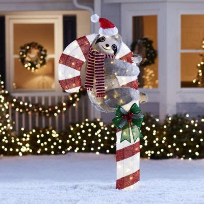 lowes outdoor lighted christmas decorations home