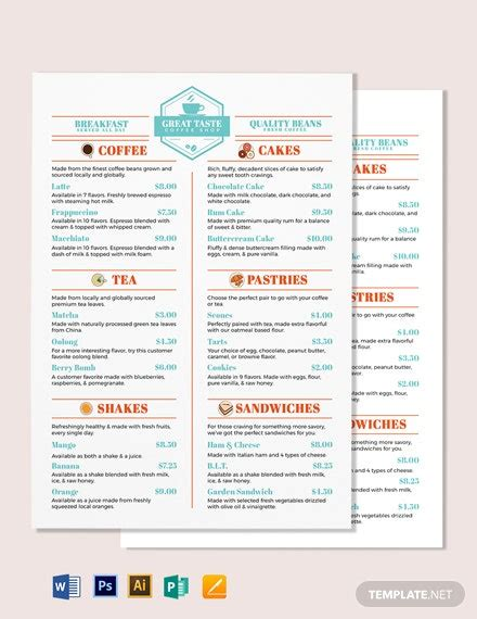 Every template is unique and different from one another that drive. Coffee Shop Templates in Microsoft Word (DOC) | Template.net
