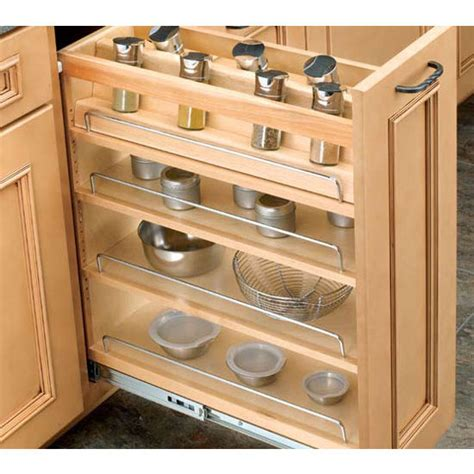 6 inch kitchen cabinet cabinet organizers adjustable wood pull out organizers for kitchen or vanity base cabinet 3928