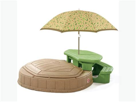 step 2 table with umbrella step 2 picnic table and sandbox with umbrella orleans