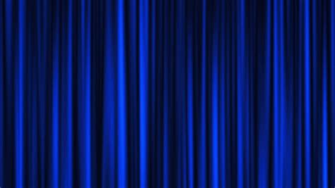 Blue Draperies - blue curtains open white background stock footage