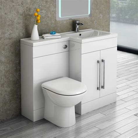 valencia 1100mm combination bathroom suite unit with basin round toilet sinks spaces and toilet