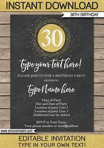 Winter Party Invitation Template Chalkboard 30th Birthday Invitations Template Gold Glitter