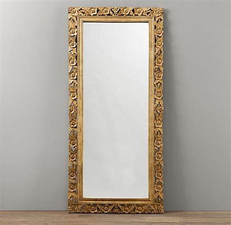 restoration hardware floor mirror vintage carved length mirror mirrors 4792