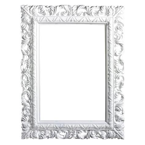 deco cadre baroque angulaire blanc    cm