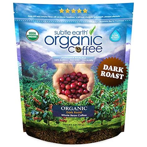 Was only able to find it at amazon. 2LB Subtle Earth Organic Coffee - Dark Roast - Whole Bean - Organic Arabica Coffee - 2 lb Bag ...