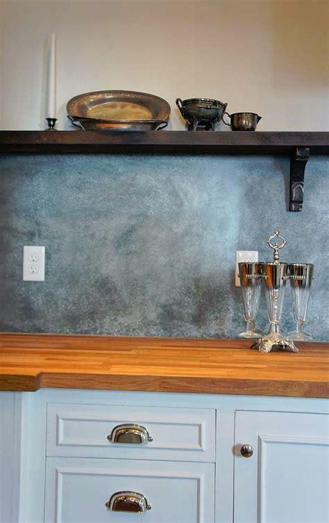Metal Backsplash Kitchen by Instead Of Tile A Backsplash Of Galvanized Fit Your