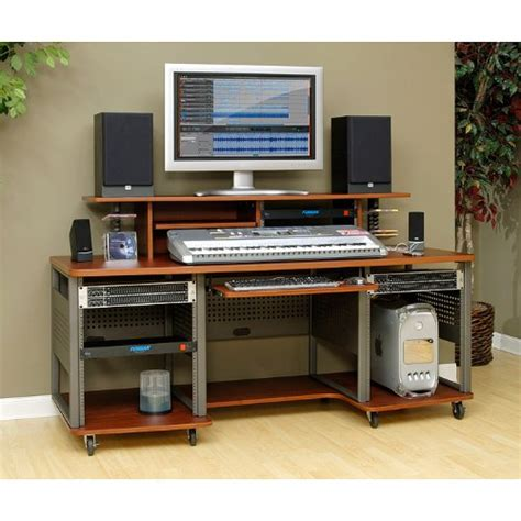 studio rta desk cherry studio rta producer station cherry