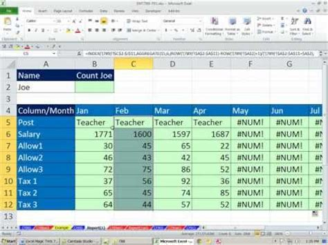excel  magic trick  extract records  match