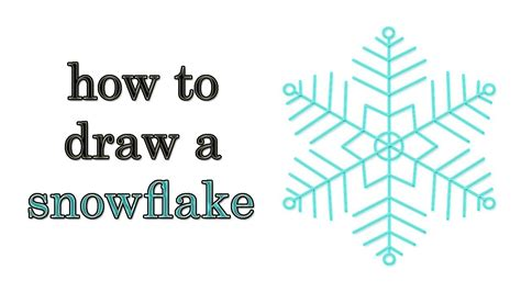 draw snowflake step  step youtube