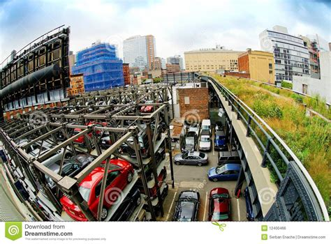 parking garages in nyc parking garage new york city royalty free stock image