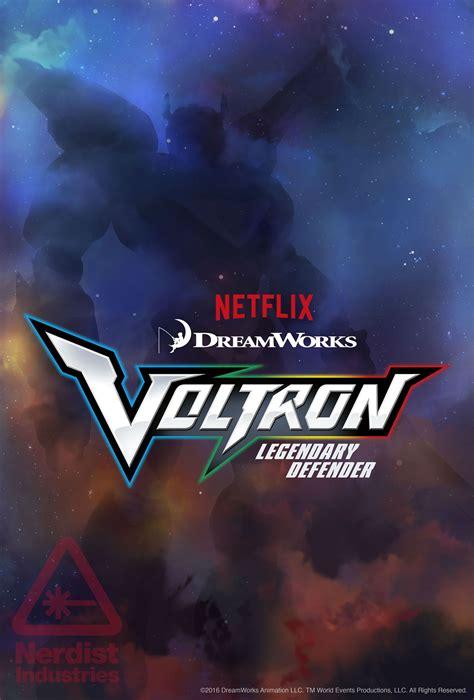 voltron netflix dreamworks legendary defender poster animation series collider force reveals via