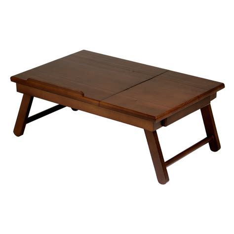 writing desk for bed lap desk wood folding tray table drawer breakfast bed food
