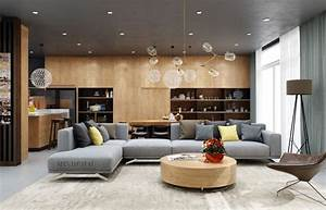 Color, Combo, Inspiration, Wood, Interiors, With, Grey, Accents