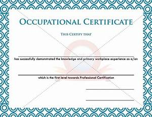 15 best images about occupational certificate templates on With health and safety certificate template