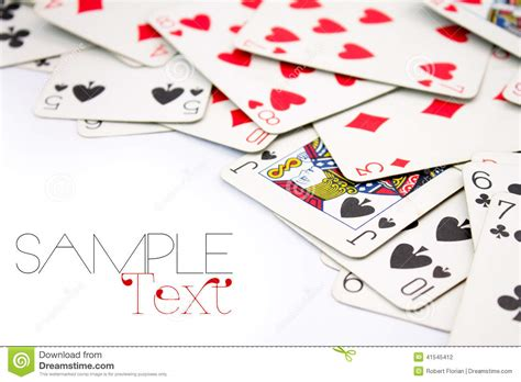 playing cards border stock photo image