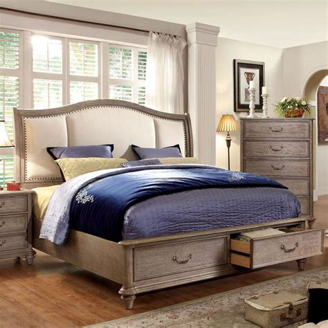 norco transitional style rustic weathered oak finish