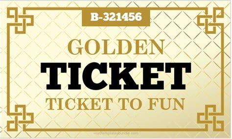 ticket template microsoft word 2007 golden ticket templates for ms word formal word templates