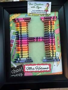 teacher gift crayon letter framed art letter h anne With crayon letter art for teacher
