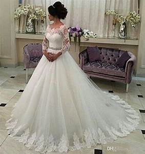 perfect 2017 new long sleeve a line wedding dresses With online wedding dress boutiques