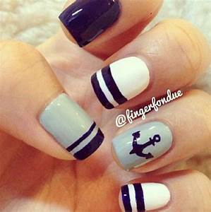 Sailor nails | Nail styles | Pinterest