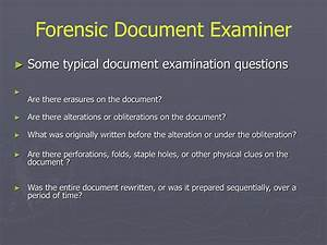 ppt handwriting analysis powerpoint presentation id203813 With questioned document examination forensic