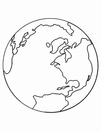 Coloring Globe Earth Printable Planet Sheets Macomb