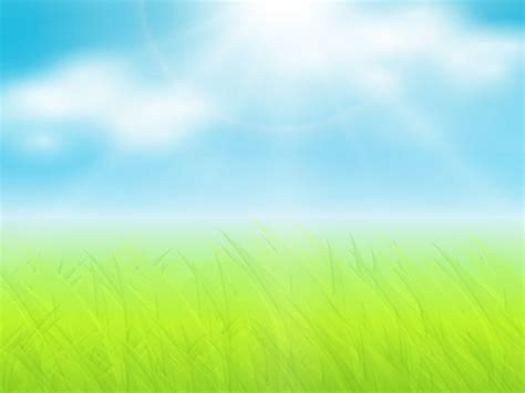 Sun Background Grass And Sun Ppt Background Slide Pics