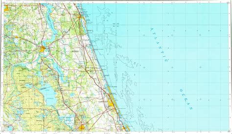 Florida Map With Towns.Small Florida Map Towns