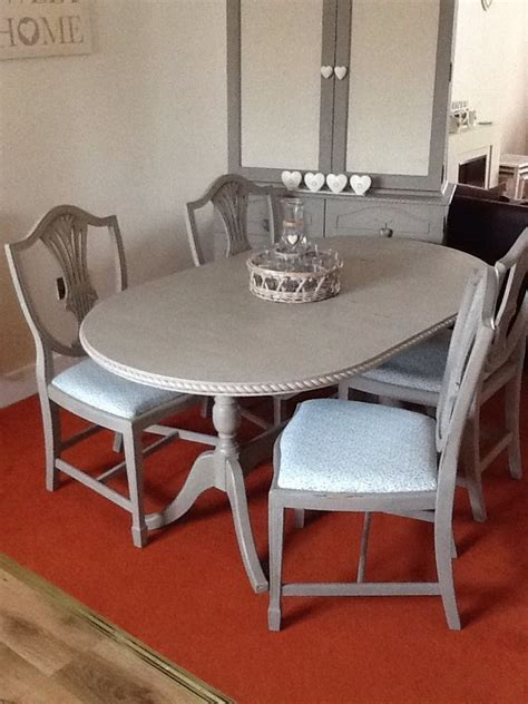 shabby chic oval kitchendining table   chairs