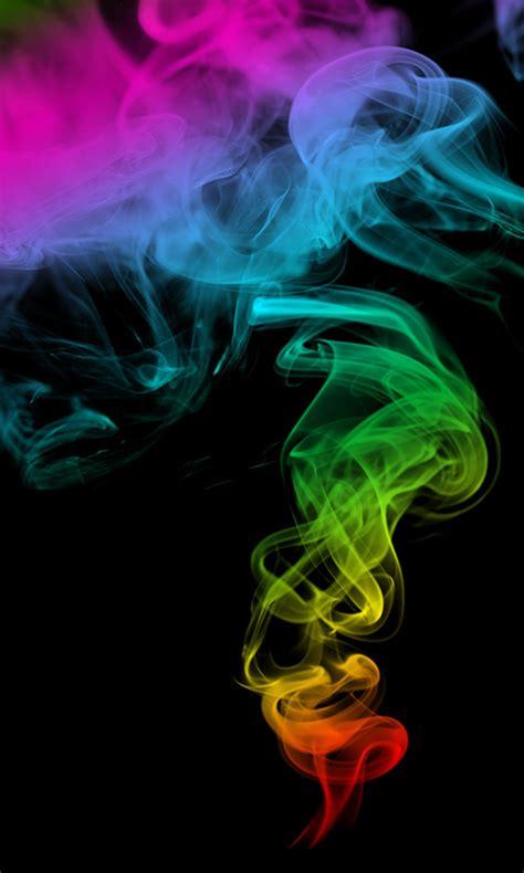 bunter rauch kostenloses handy hintergrundbild