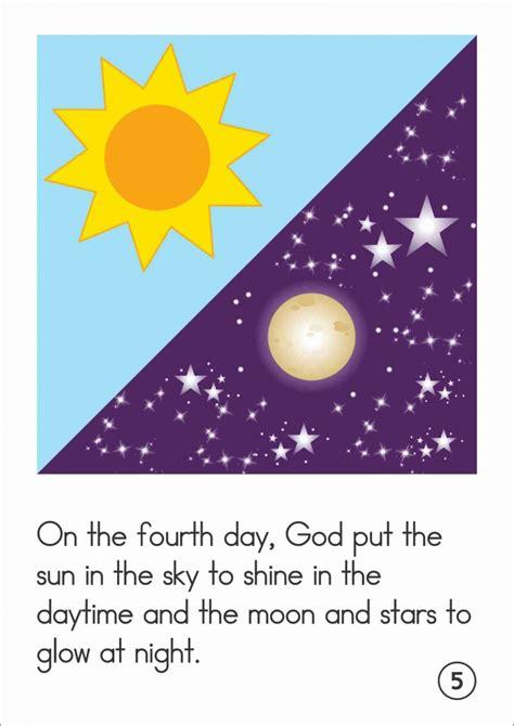 sunday school creation sun moon  stars   world