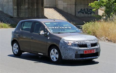 Facelifted 2017 Dacia Sandero Logan Mcv Spied Carscoops
