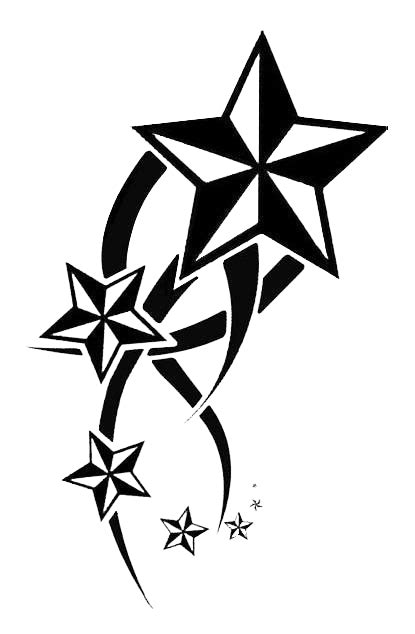 Stars Tribal Tattoos PNG Transparent Background, Free
