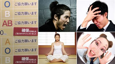 japan  blood types   determine personality