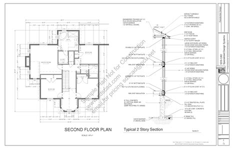 home building blueprints h212 country 2 story porch house plan blueprints construction drawings sds plans