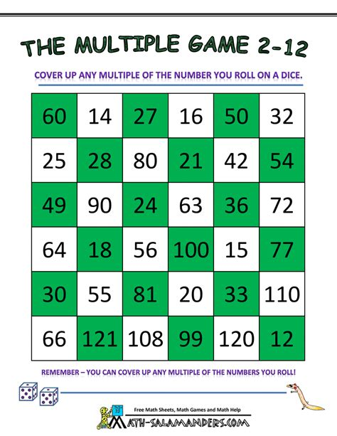 Math Multiples Coloring Worksheets  4th Grade Math