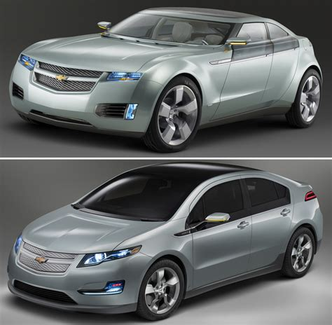 chevrolet volt hybrid  concept  production carscoops