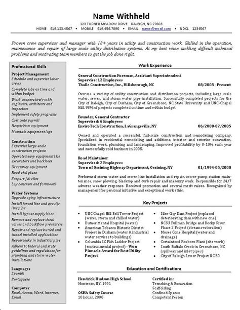 Best Resume Format For Experienced Person by Format Of Resume For Experienced Person