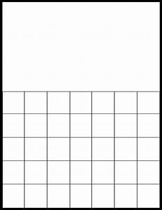 Printable Blank Calendar Grid