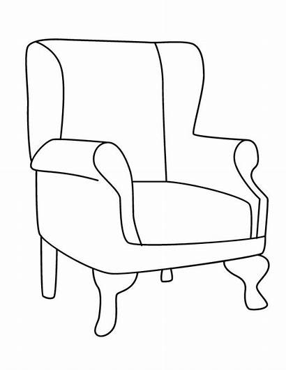 Coloring Chair Pages Chairs Sofa Mother Template