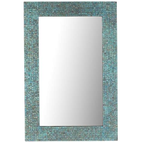 mosaic rectangular bathroom mirror azure mosaic 24x36 mirror mosaics pier 1 imports and mirror