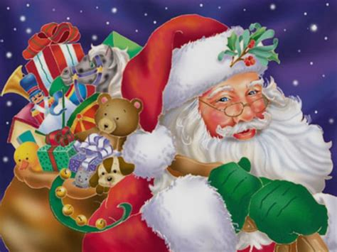 santa clause merry christmas photos wallpapers kids