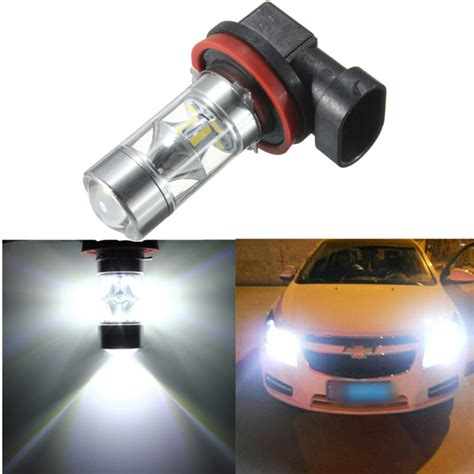 h8 h11 12 smd 2835 led light 60w car fog driving light